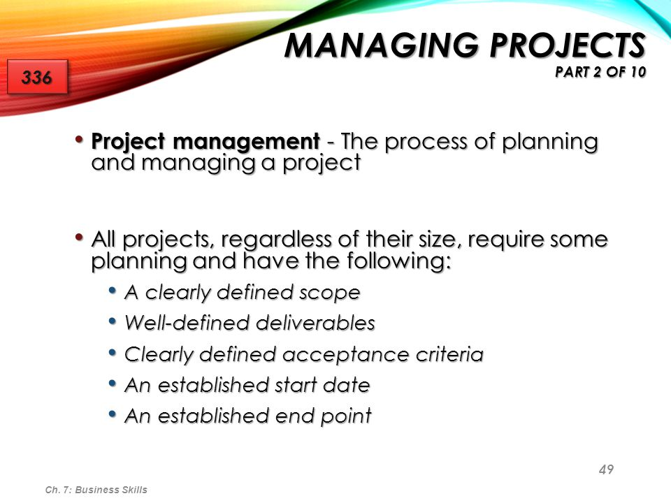 Managing Projects part 2 of 10