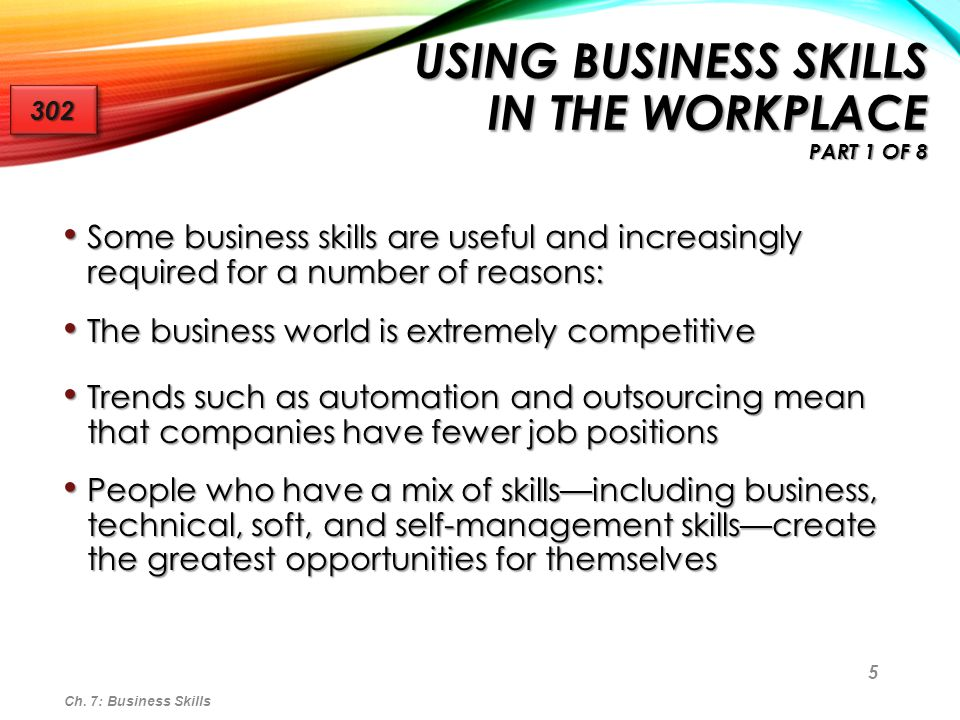 Using Business Skills in the Workplace Part 1 of 8
