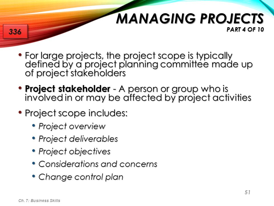 Managing Projects part 4 of 10