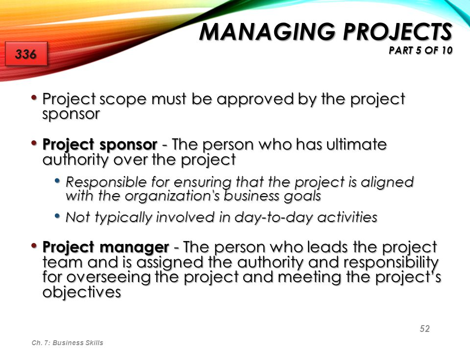 Managing Projects part 5 of 10