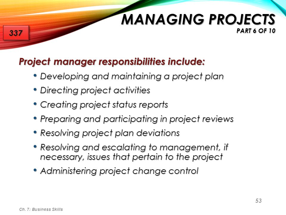 Managing Projects part 6 of 10