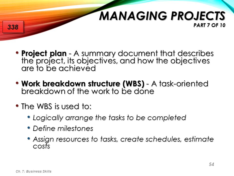 Managing Projects part 7 of 10