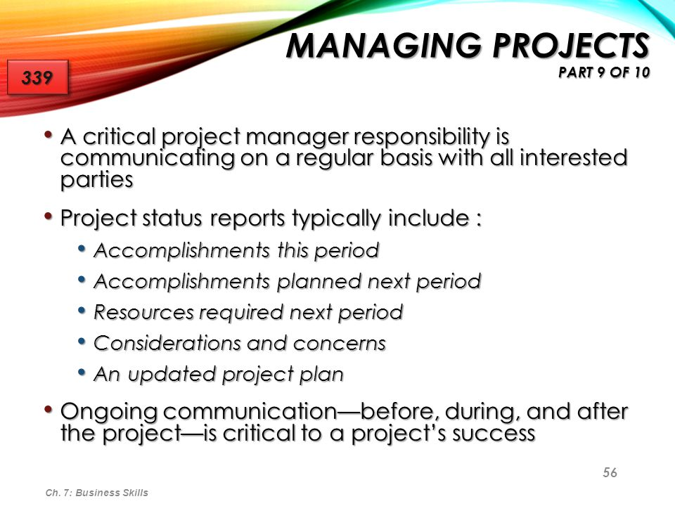 Managing Projects part 9 of 10