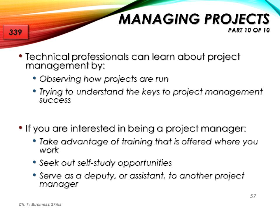 Managing Projects part 10 of 10
