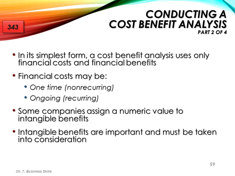 Conducting a Cost Benefit Analysis Part 2 of 4