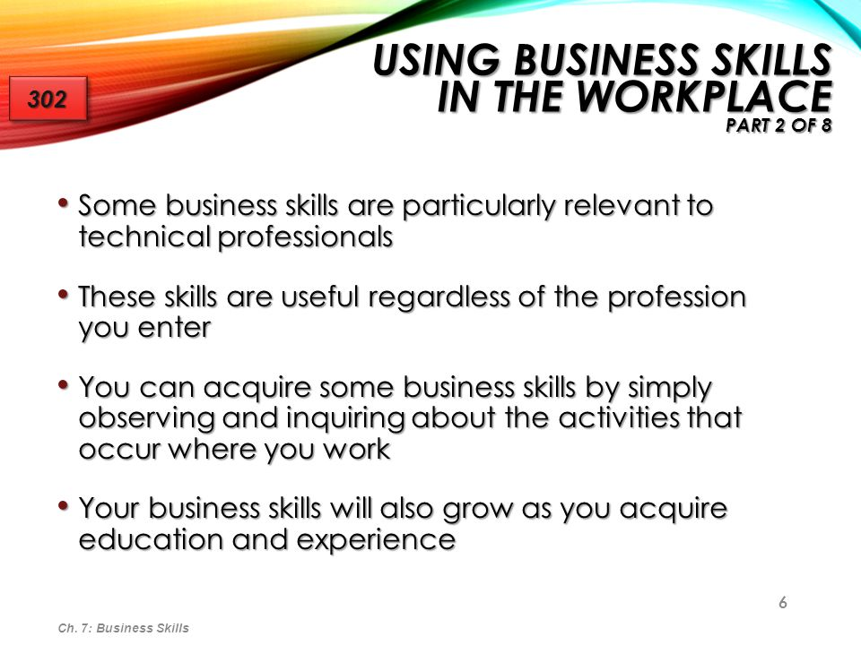Using Business Skills in the Workplace Part 2 of 8