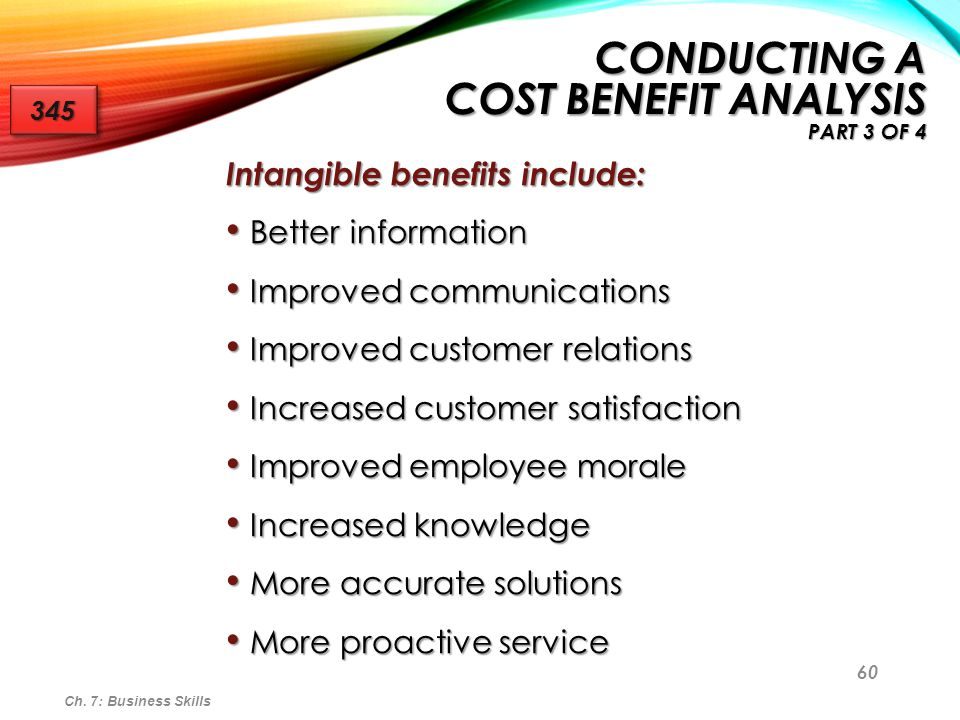 Conducting a Cost Benefit Analysis Part 3 of 4