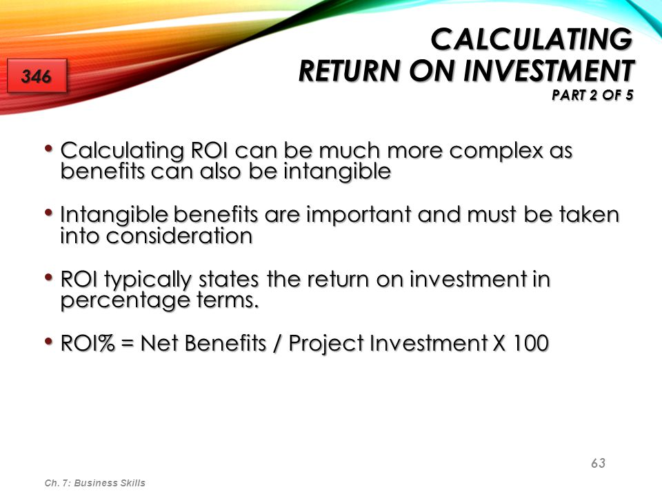 Calculating Return on Investment Part 2 of 5