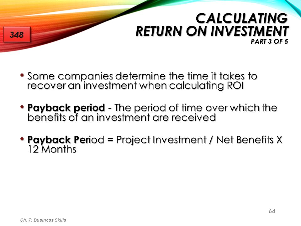 Calculating Return on Investment Part 3 of 5