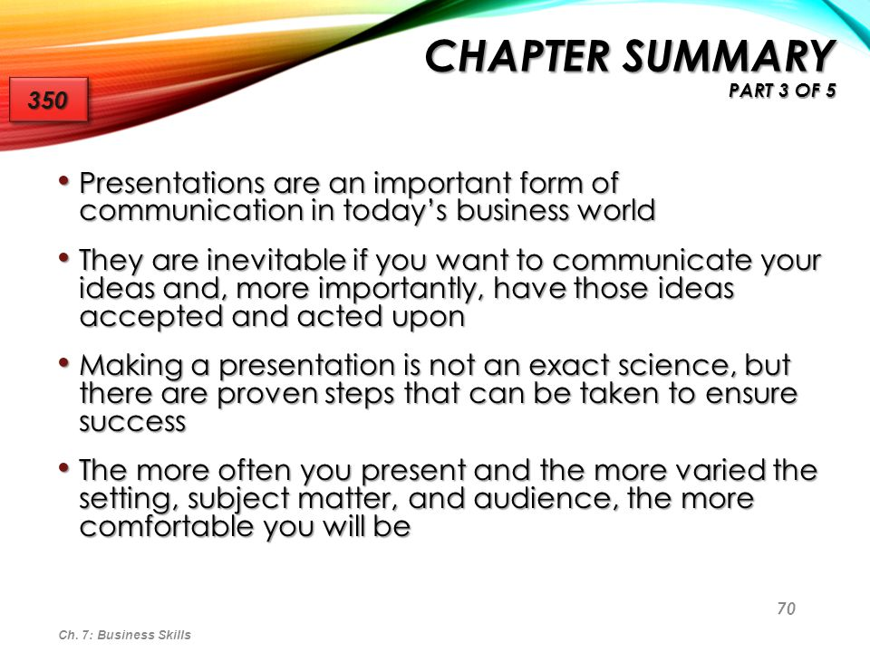Chapter Summary Part 3 of 5