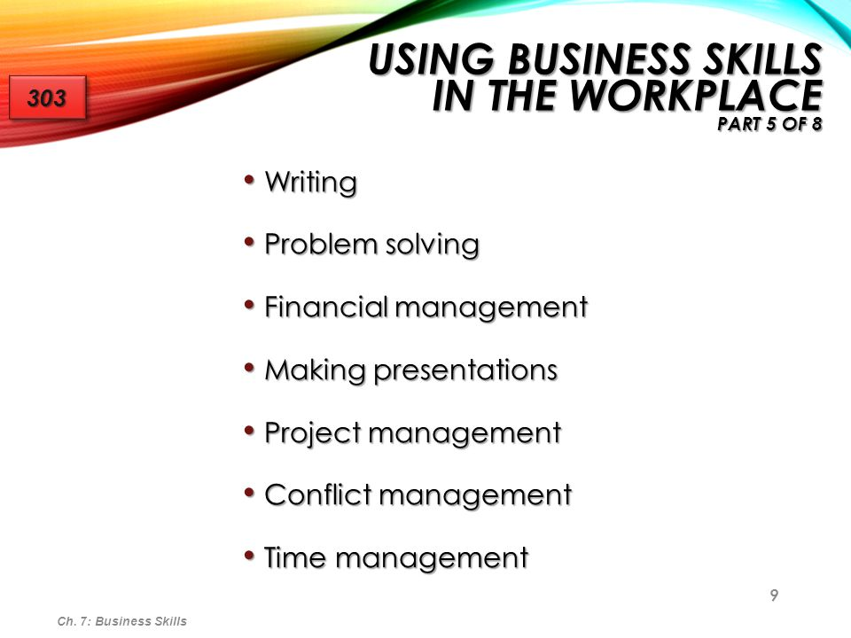 Using Business Skills in the Workplace Part 5 of 8