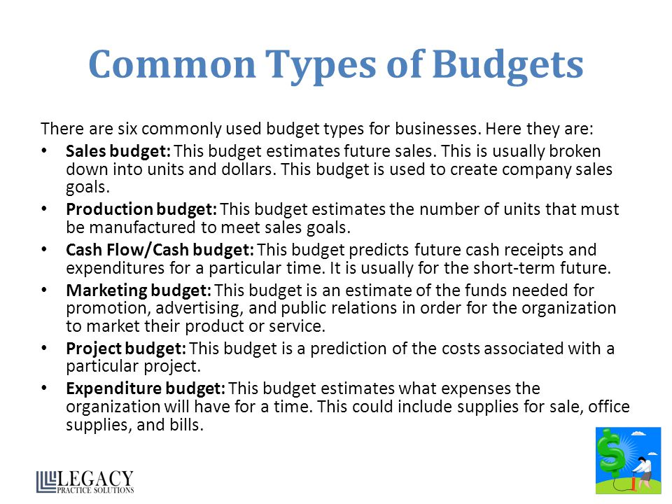 Common Types of Budgets