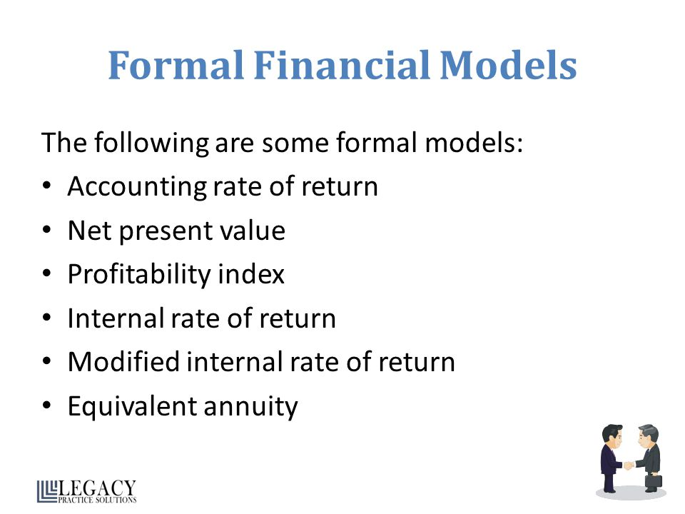 Formal Financial Models