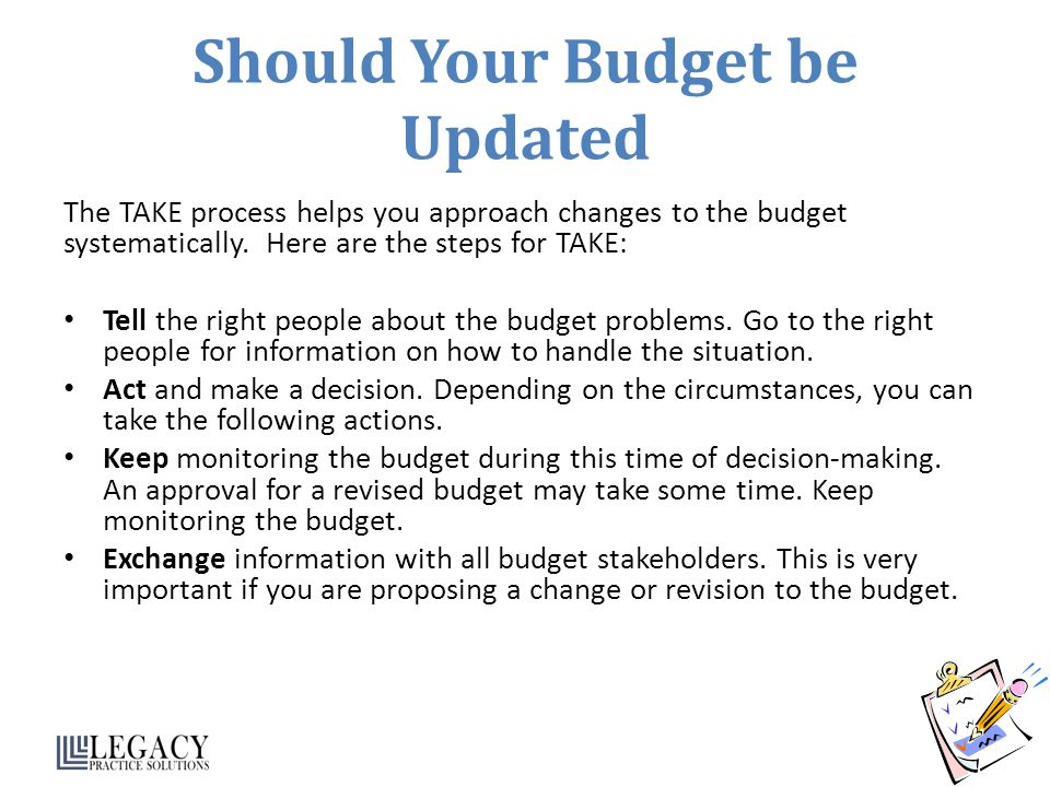 Should Your Budget be Updated