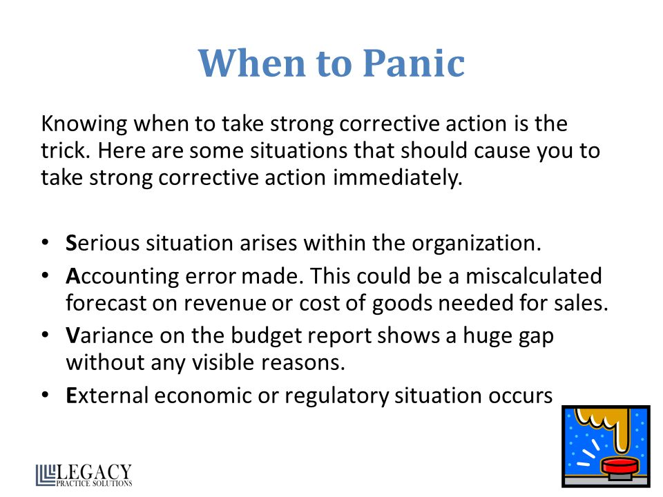When to Panic