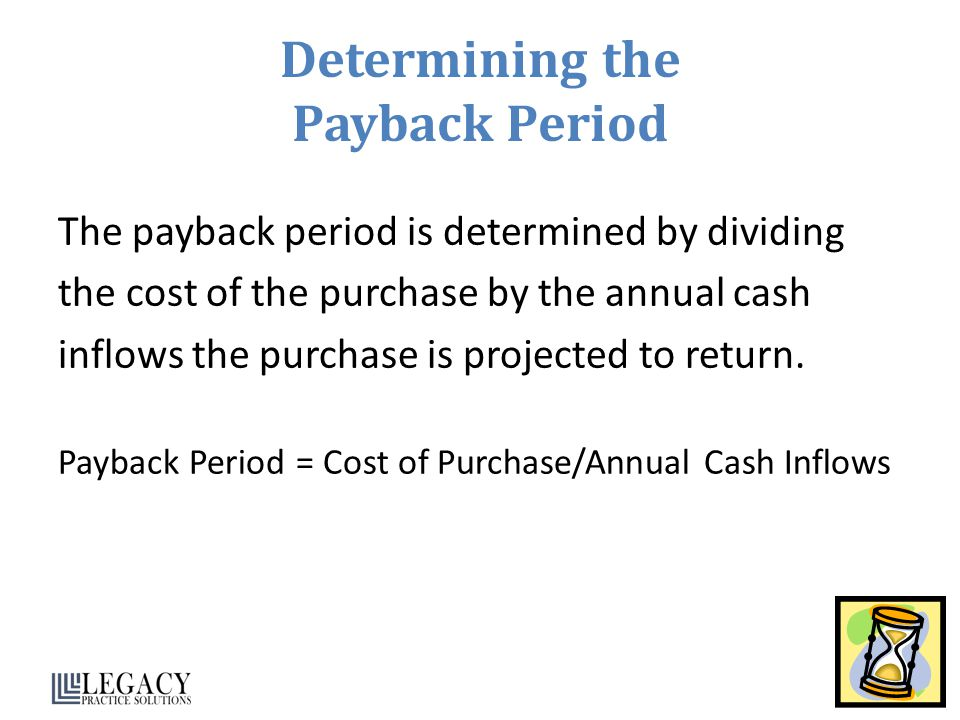Determining the Payback Period