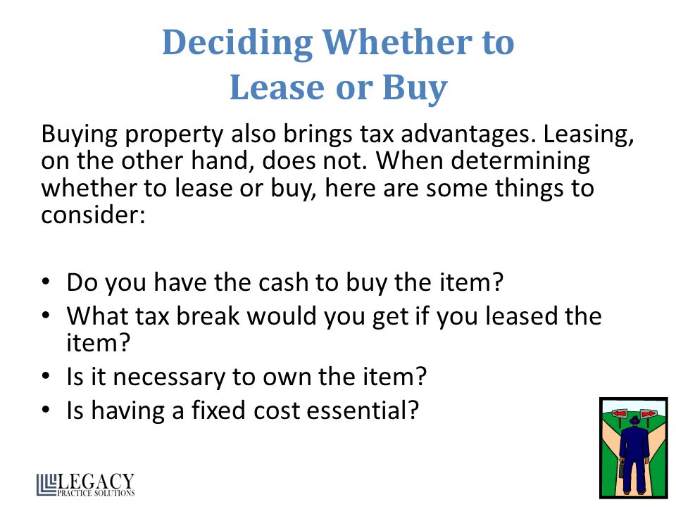 Deciding Whether to Lease or Buy