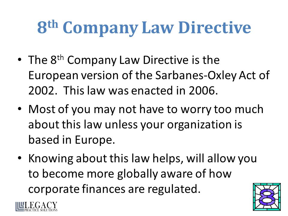 8th Company Law Directive