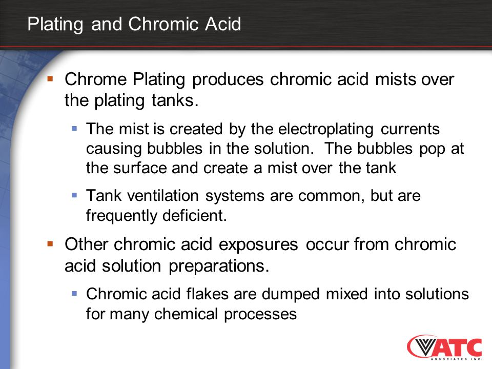 Plating and Chromic Acid