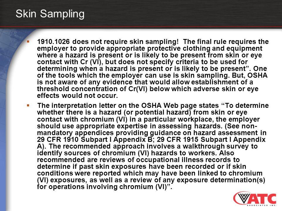 Skin Sampling