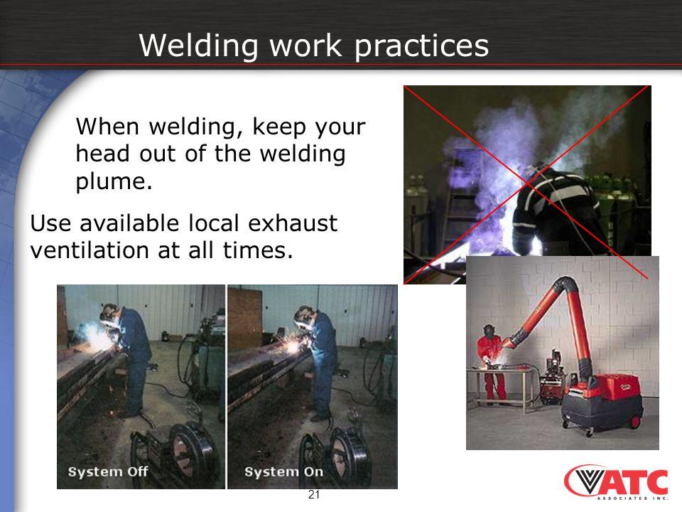 Welding work practices