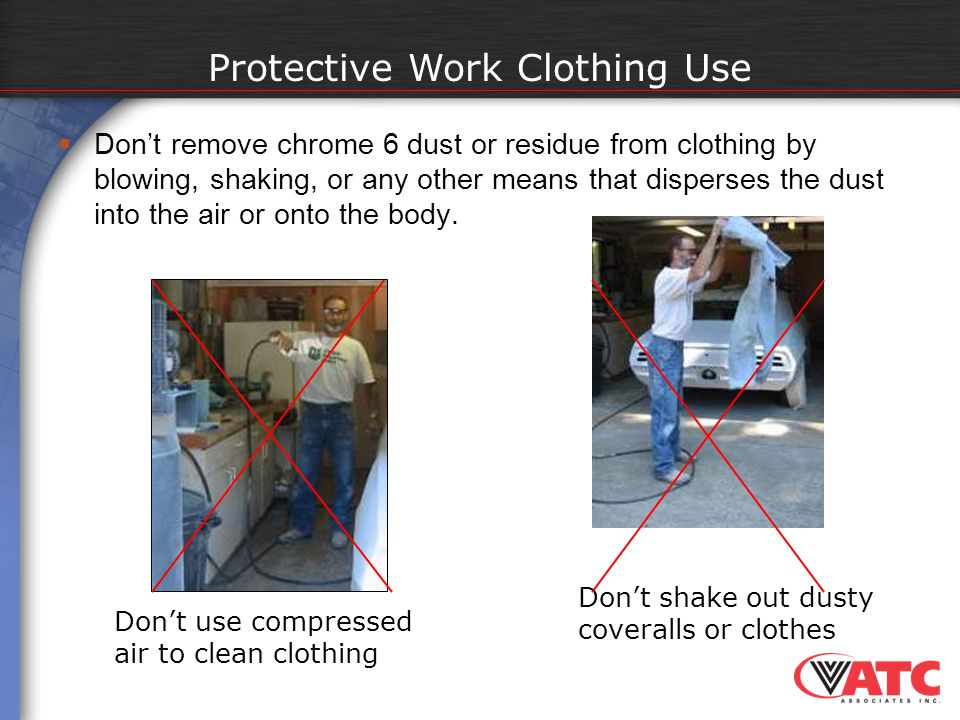 Protective Work Clothing Use