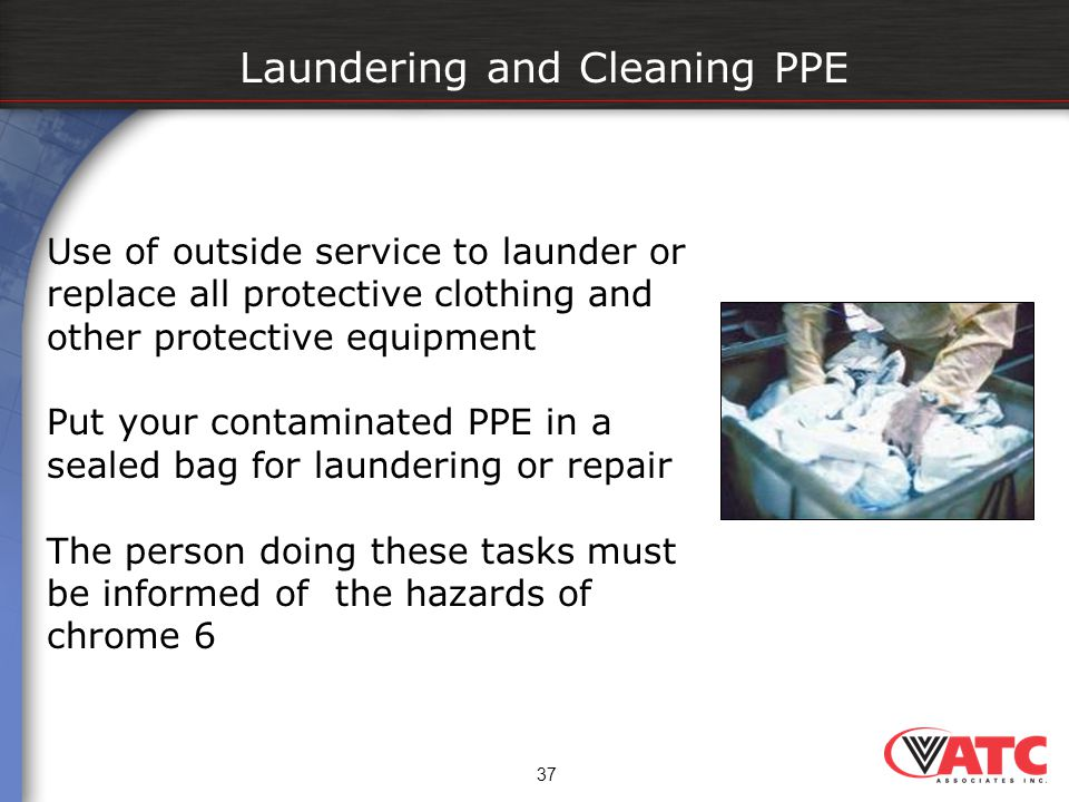 Laundering and Cleaning PPE