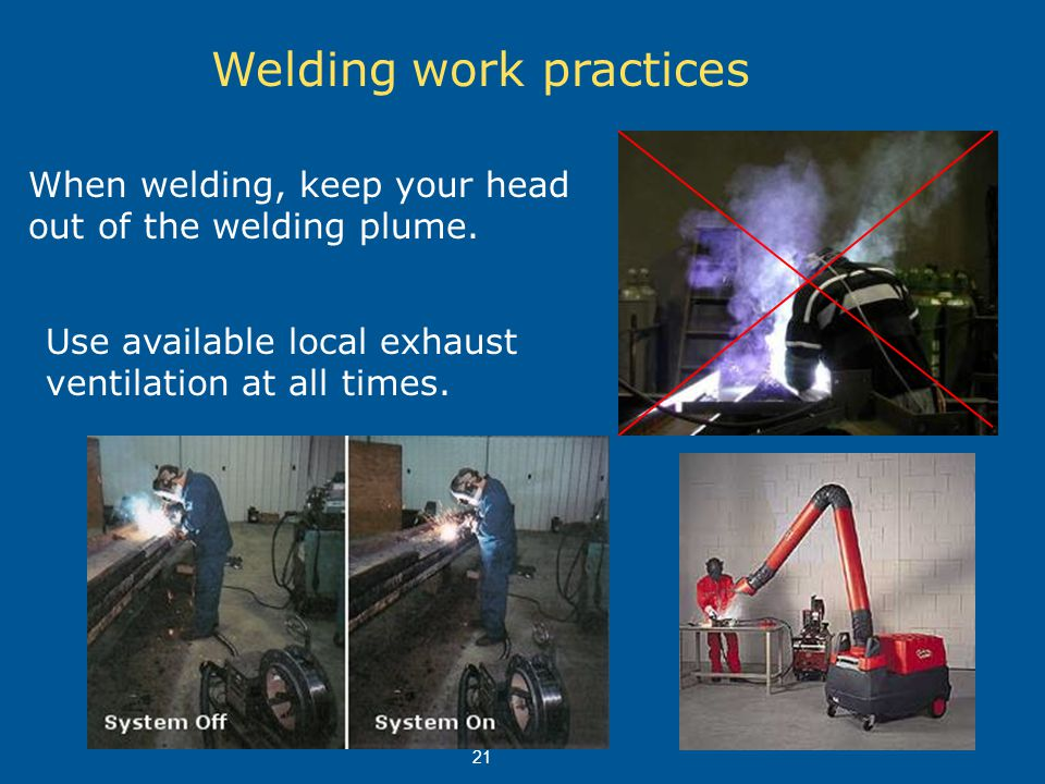 Welding work practices