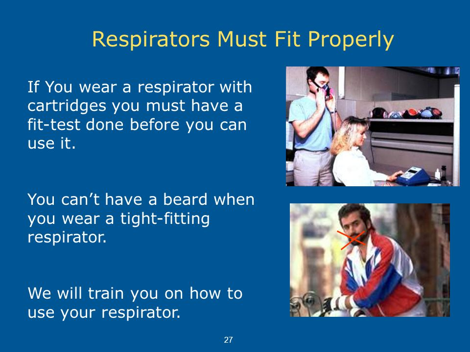 Respirators Must Fit Properly