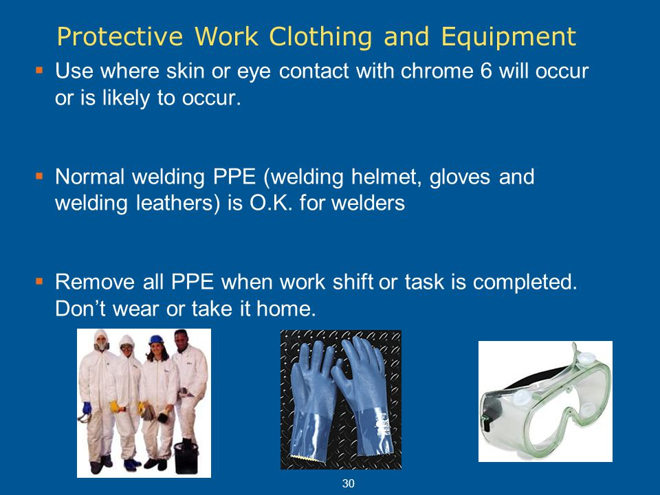 Protective Work Clothing and Equipment