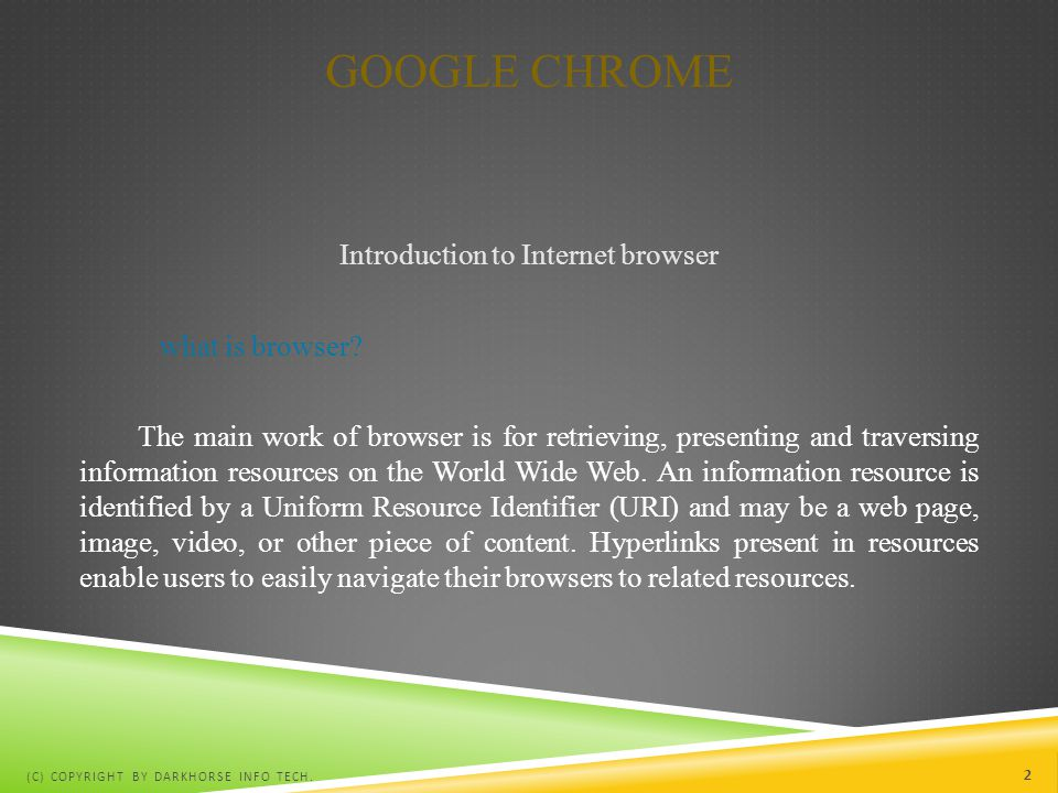 Introduction to Internet browser