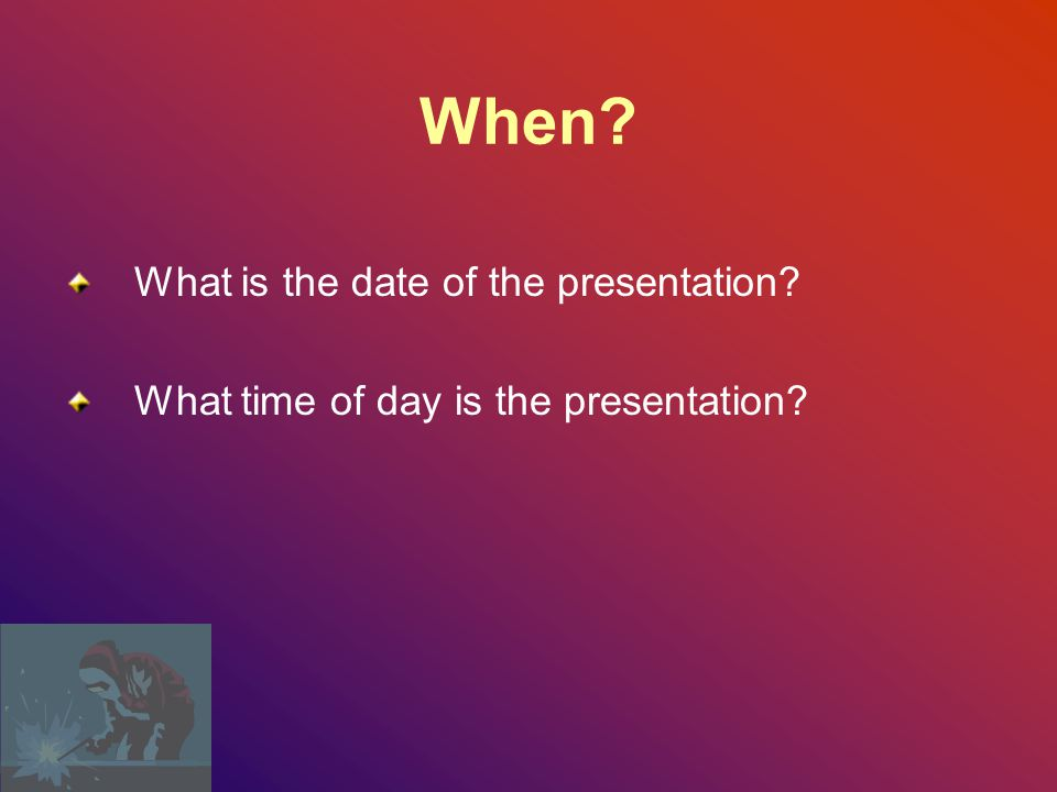 When What is the date of the presentation