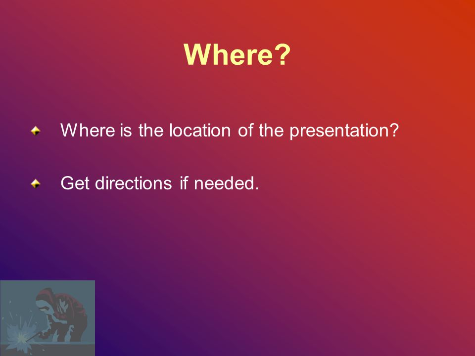 Where Where is the location of the presentation