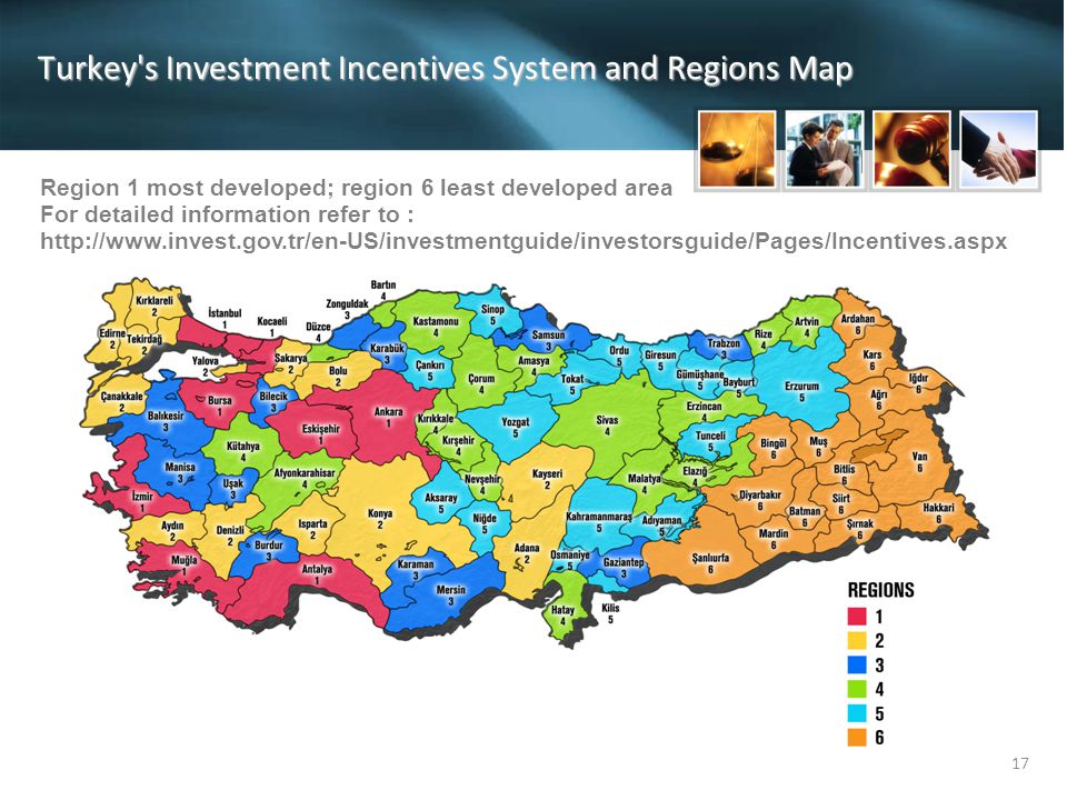 Turkey s Investment Incentives System and Regions Map
