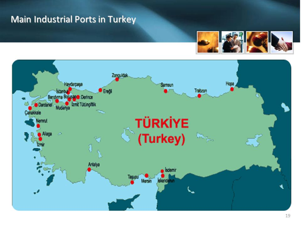 Main Industrial Ports in Turkey