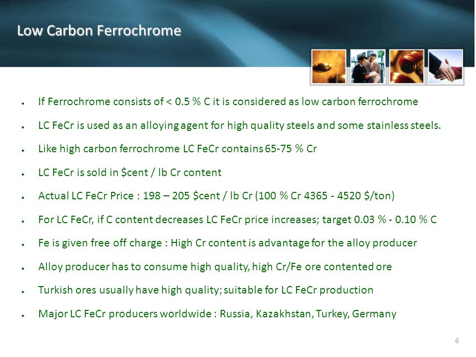Low Carbon Ferrochrome