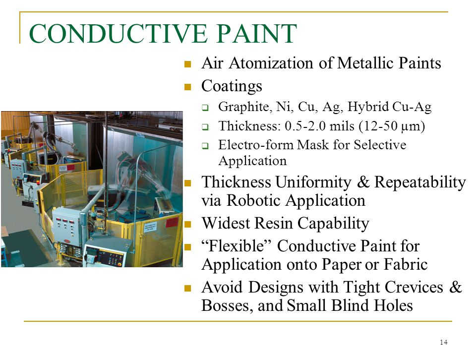 CONDUCTIVE PAINT Air Atomization of Metallic Paints Coatings