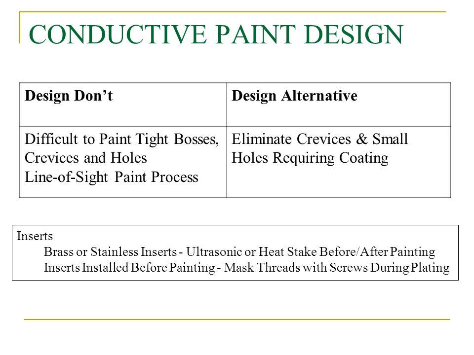 CONDUCTIVE PAINT DESIGN