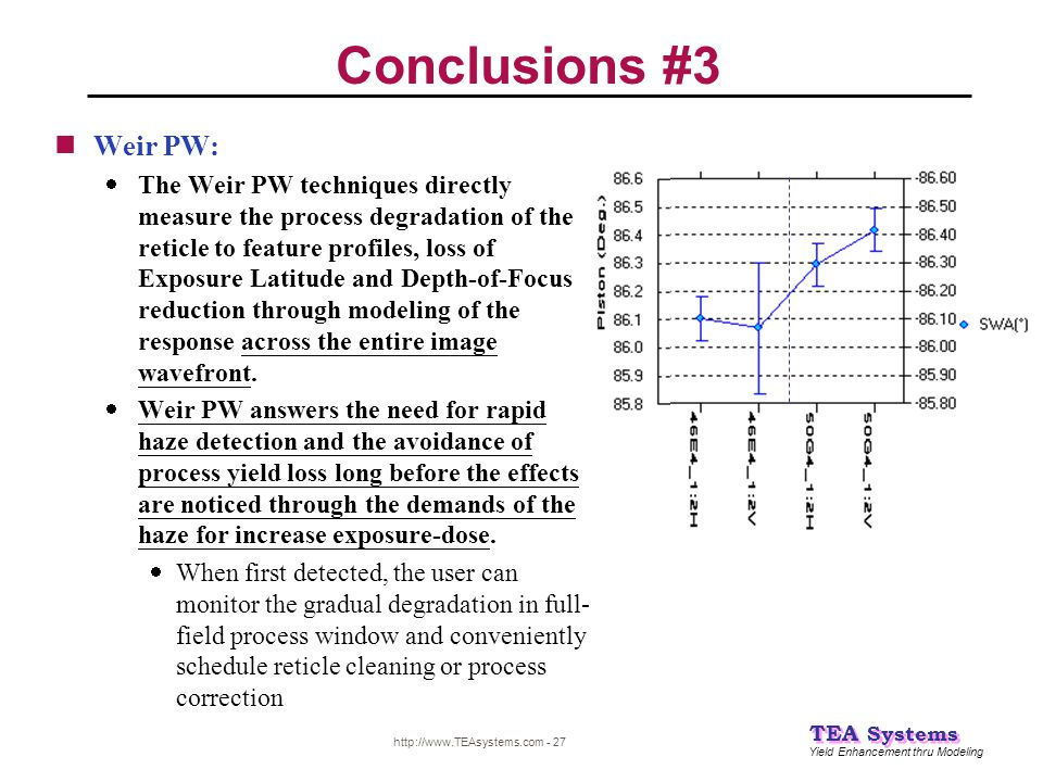 Conclusions #3 Weir PW: