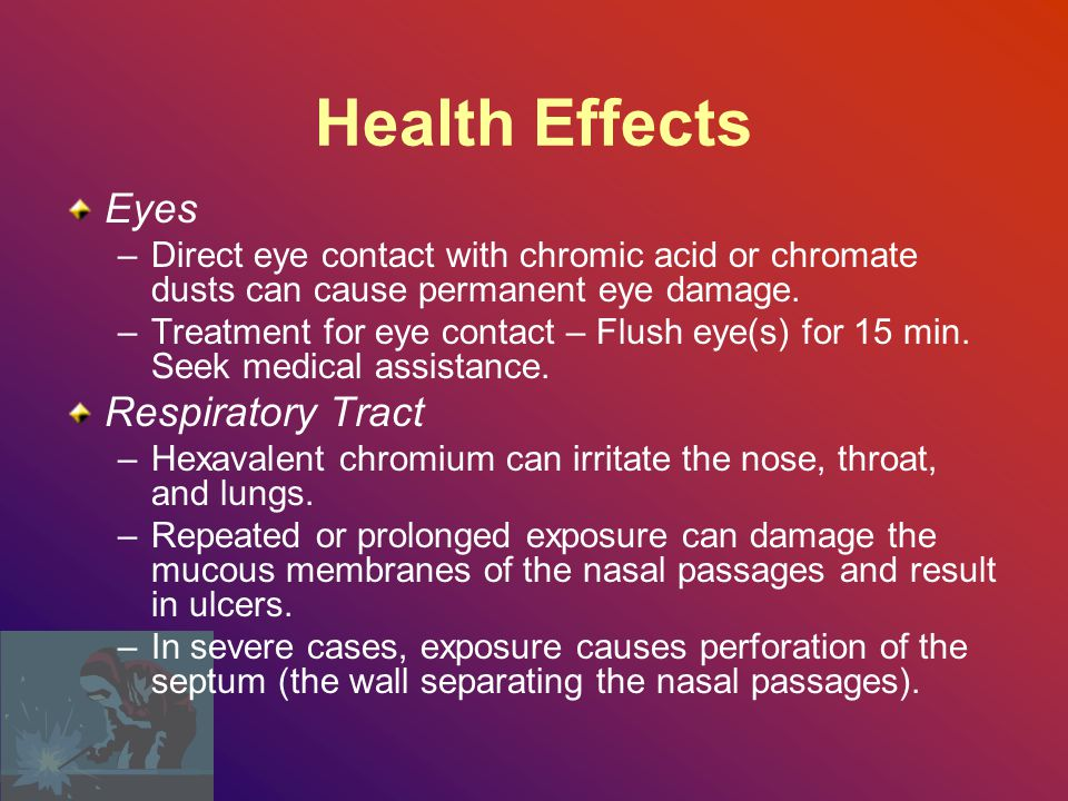 Health Effects Eyes Respiratory Tract