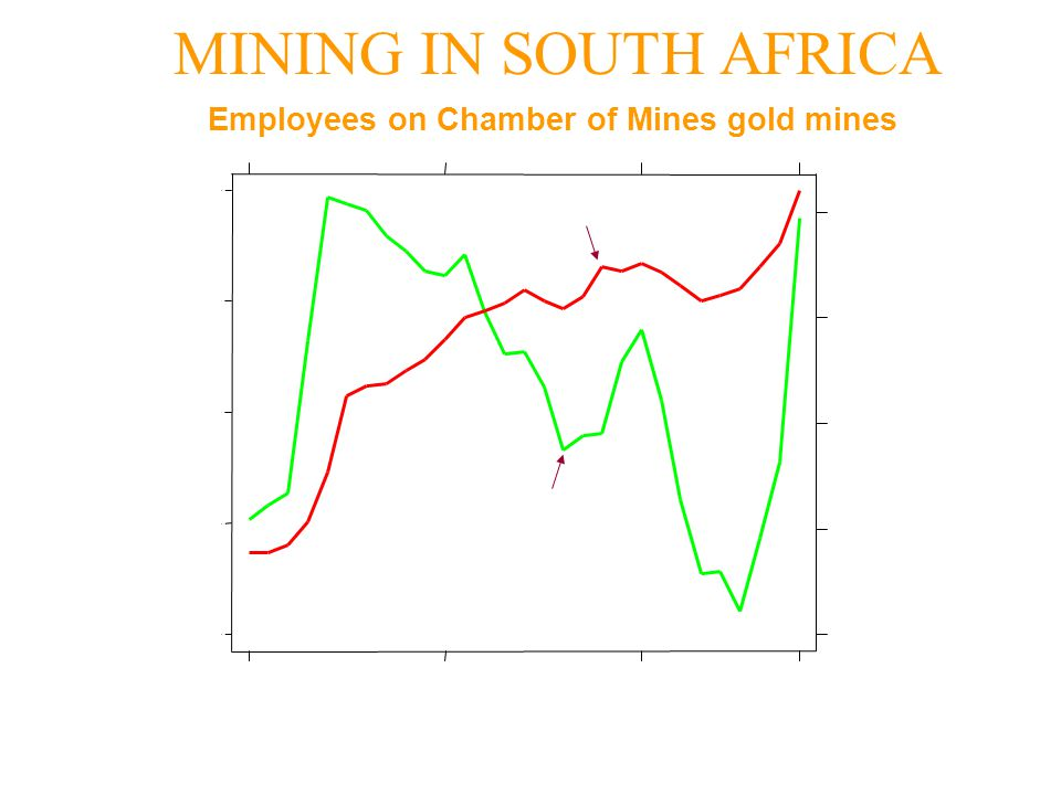 Employees on Chamber of Mines gold mines