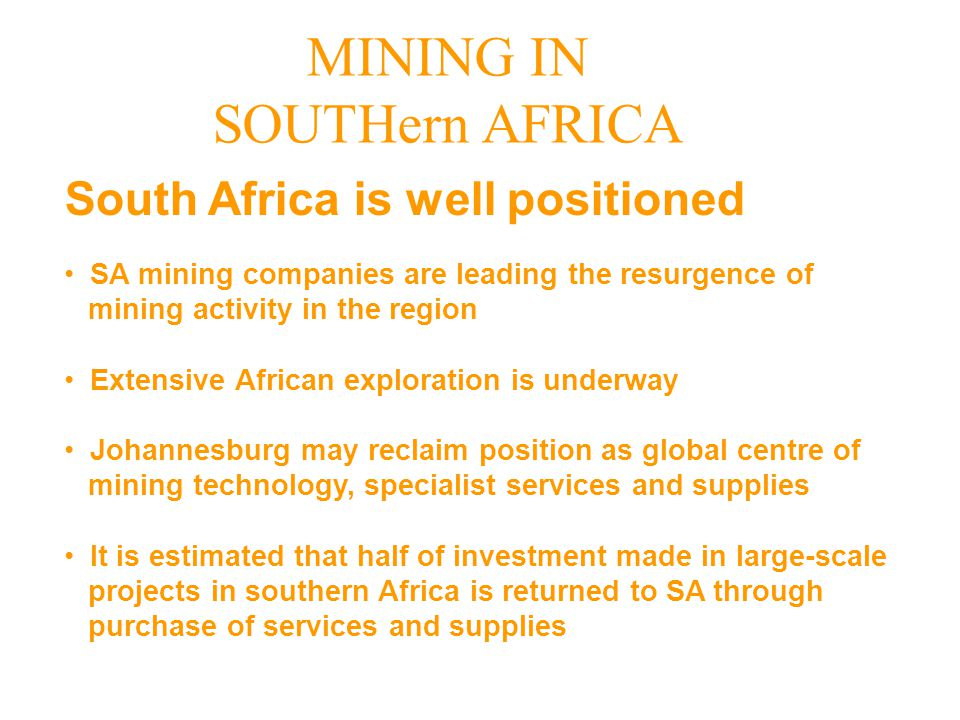 South Africa is well positioned