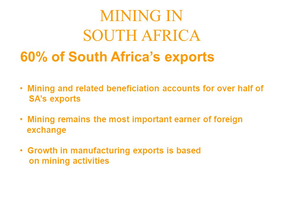 60% of South Africa's exports