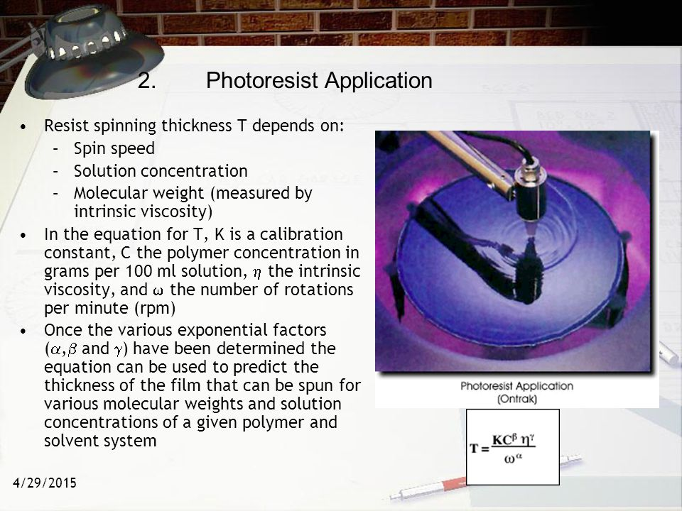 2. Photoresist Application