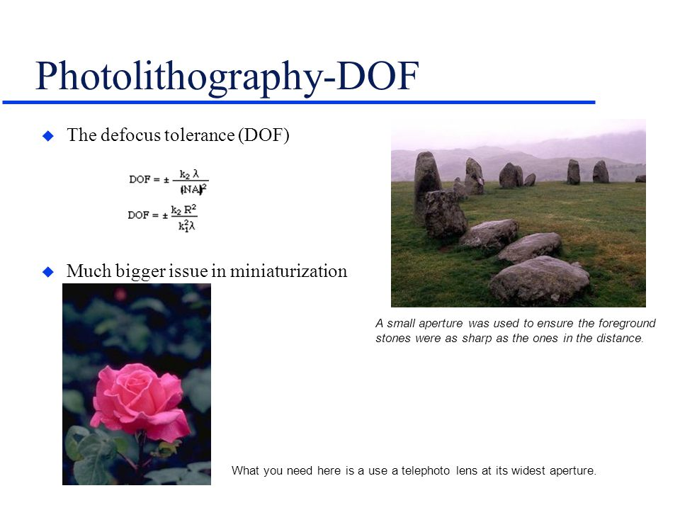 Photolithography-DOF
