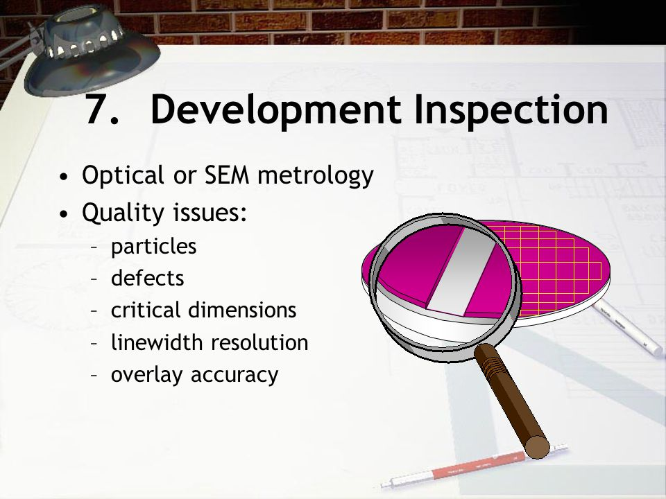 7. Development Inspection