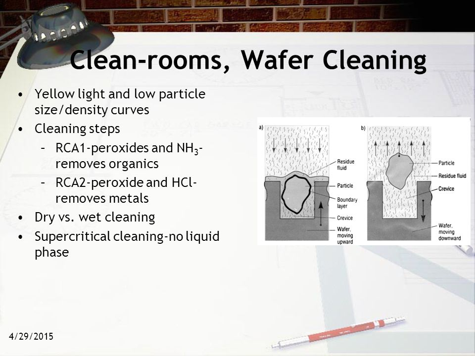 Clean-rooms, Wafer Cleaning