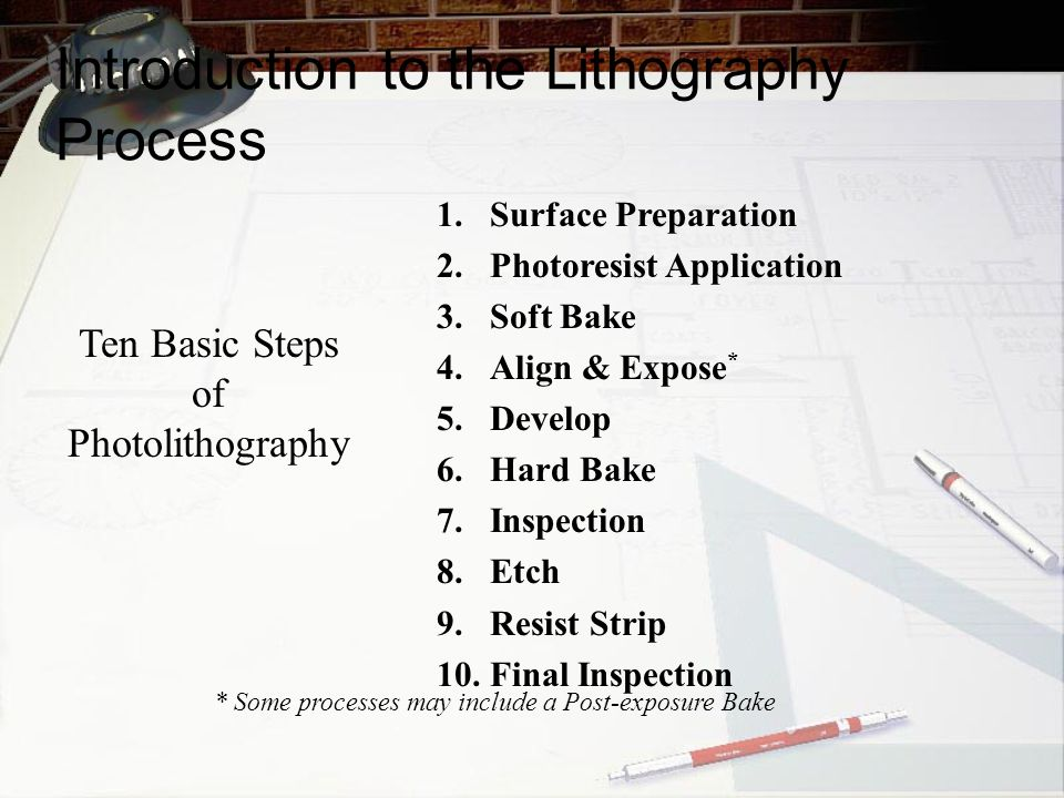 Ten Basic Steps of Photolithography