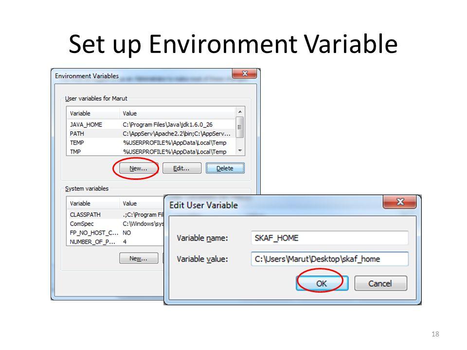 Set up Environment Variable