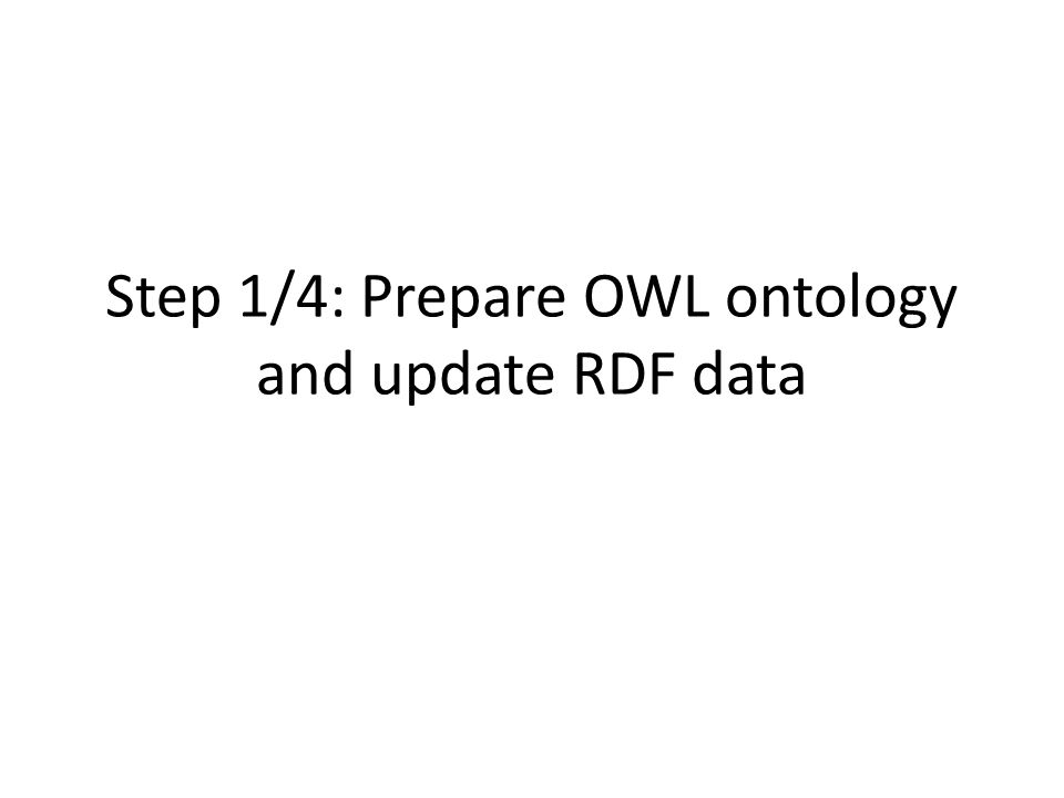 Step 1/4: Prepare OWL ontology and update RDF data